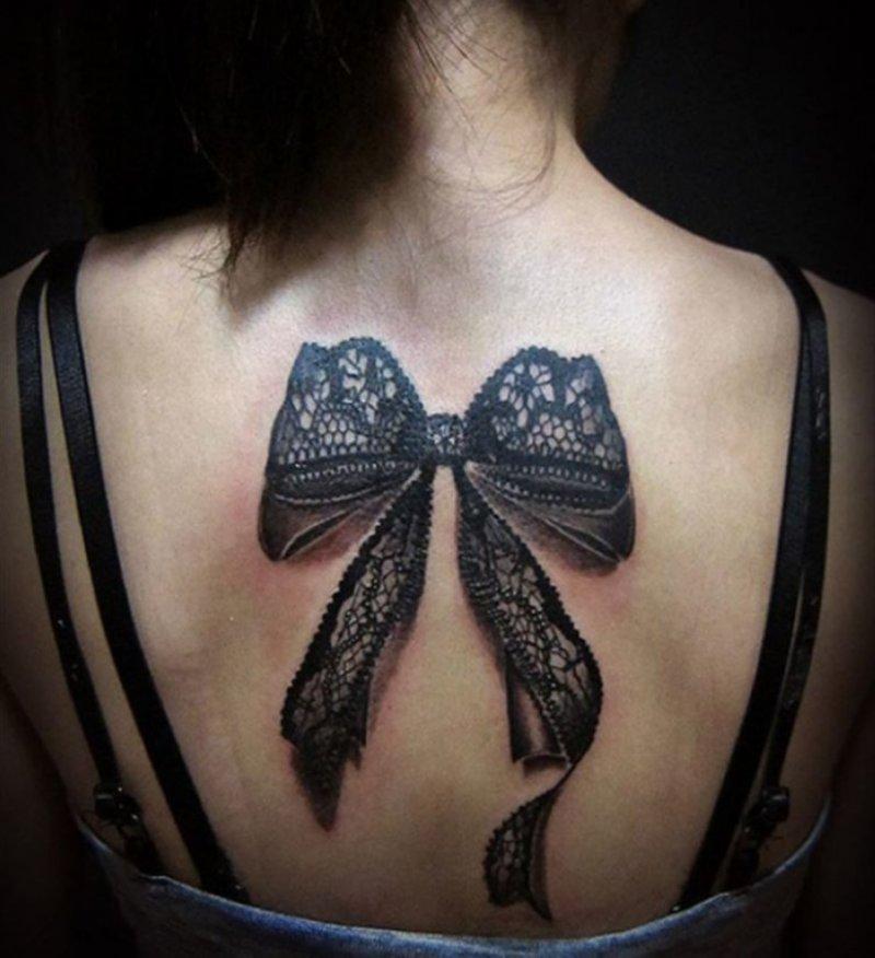 Black Lace 3D Tattoo-15 Fantastic Three Dimensional Tattoos That Will Blow Your Mind