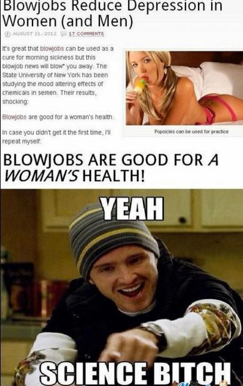 Blowjobs Reduce Depression In Men And Women-12 Funny Blowjob Memes Will Make You Lol
