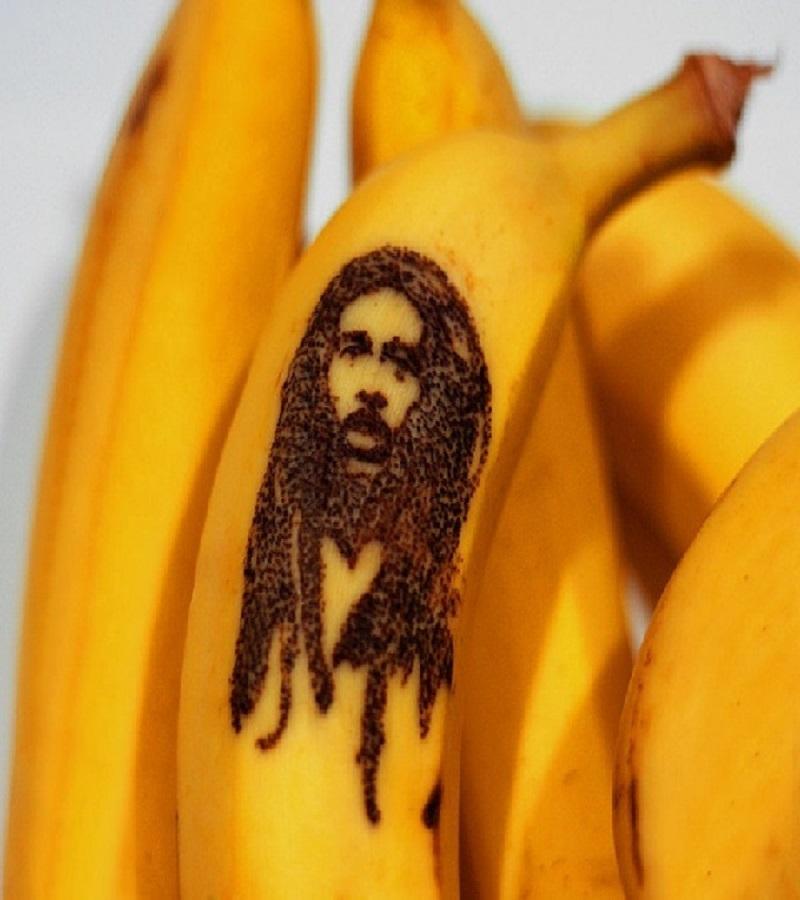 Bob Marley Banana Art-15 Amazing Banana Art You Will Ever See