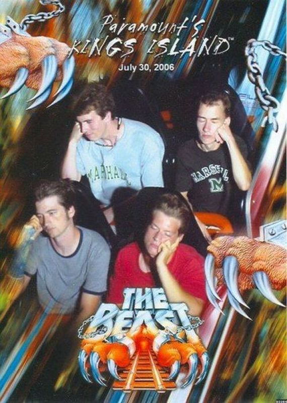 Bored-12 Funniest Rollercoaster Pictures