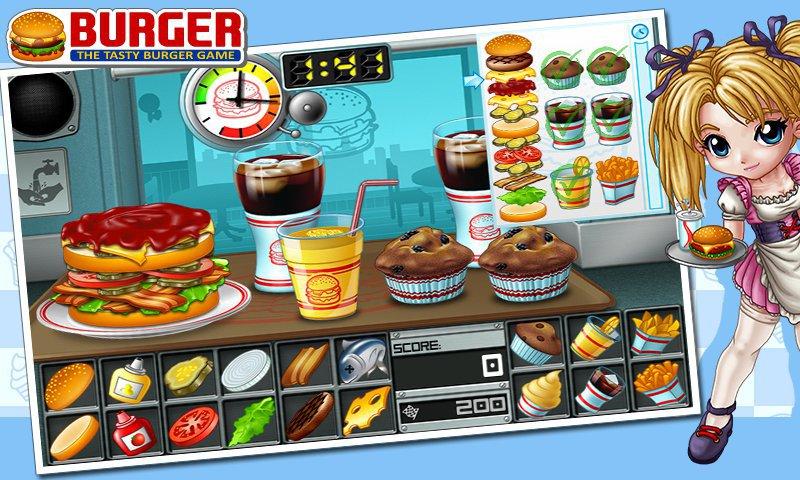 Burger-12 Best Restaurant Games For IOS And Android