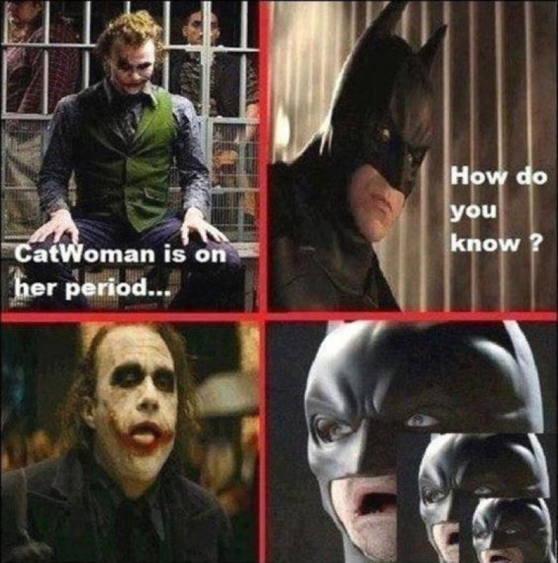 Catwoman Is On Her Period!-12 Funny Batman Memes That Will Make You Lol
