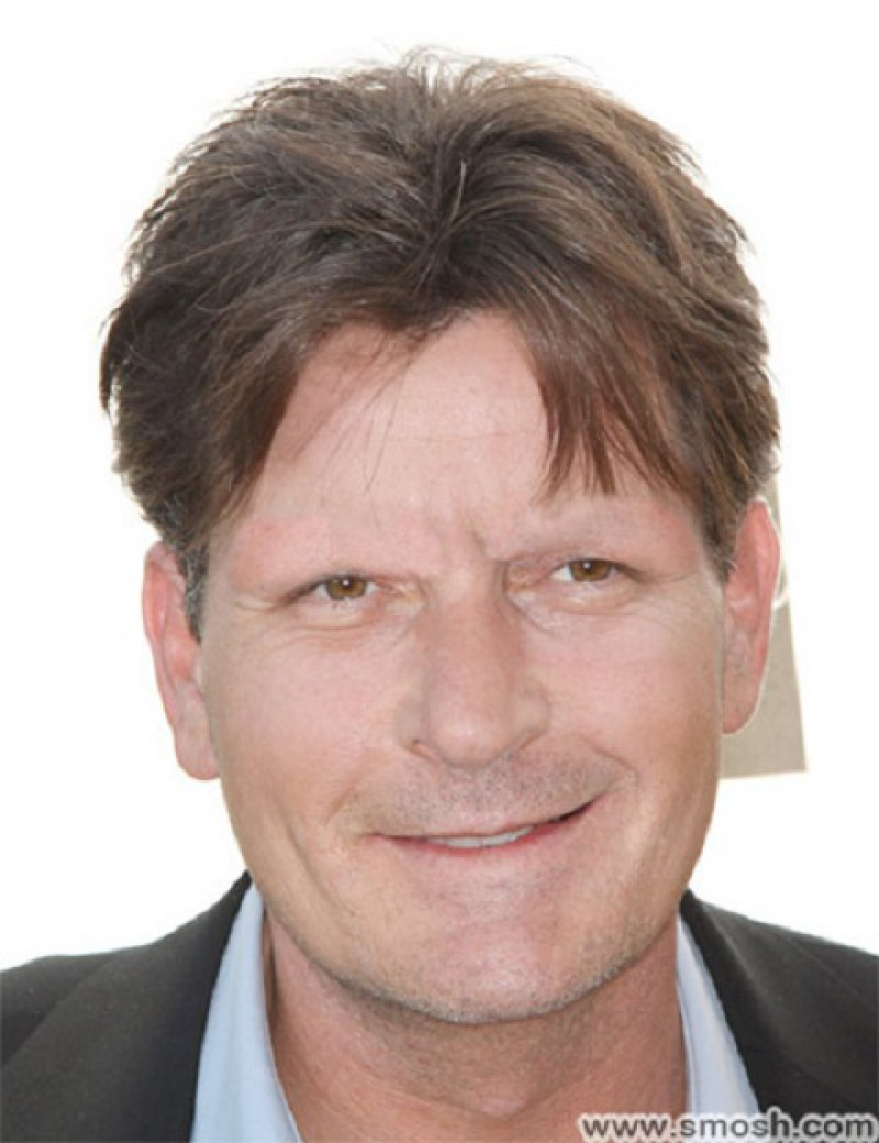 Charlie Sheen-15 Celebrities Without Eyebrows You Never Seen Before