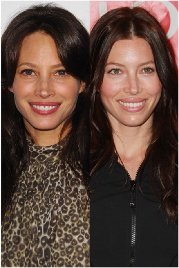 Christy Turlington & Jessica Biel-15 Surprising Celebrity Lookalikes That You Haven't Noticed