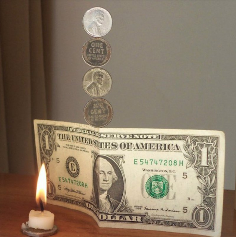 Coin Balancing-15 Easy Homemade Magic Tricks You Can Learn Within Minutes