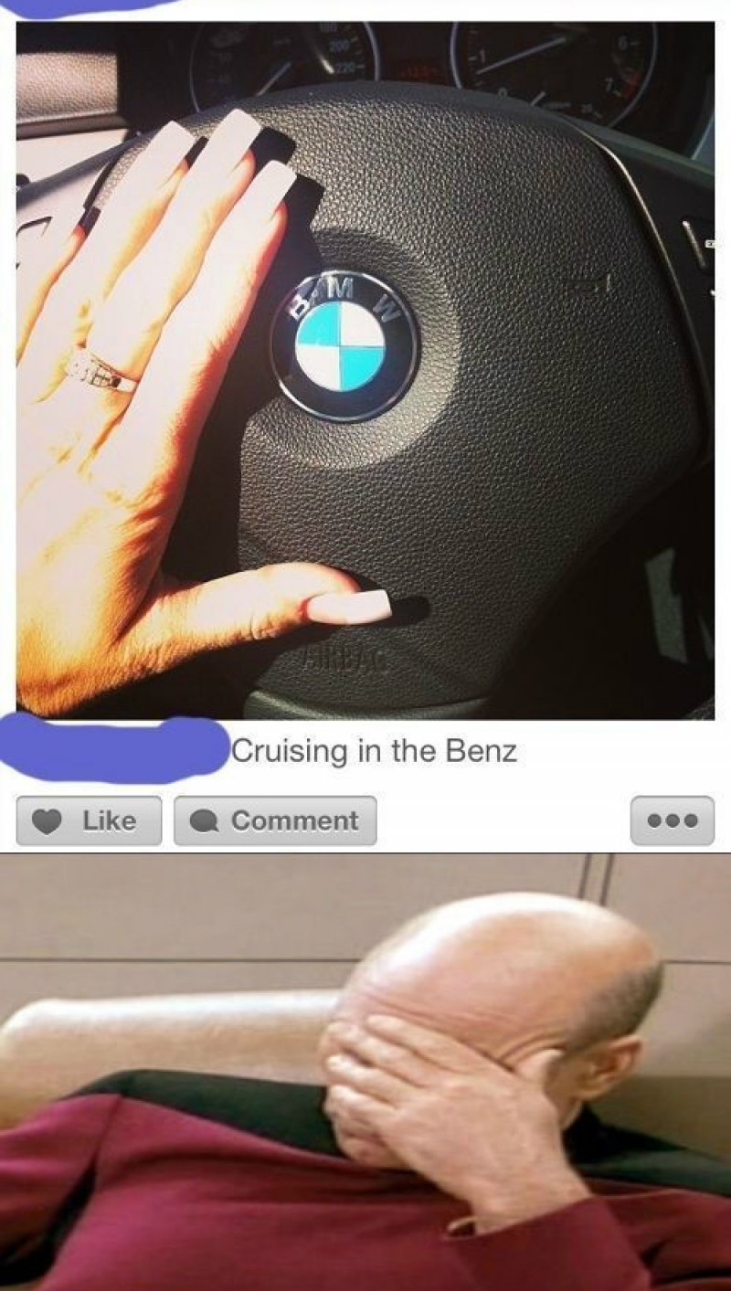 Cruising In The Benz!-12 Funny Facepalm Memes That Will Make You Lol