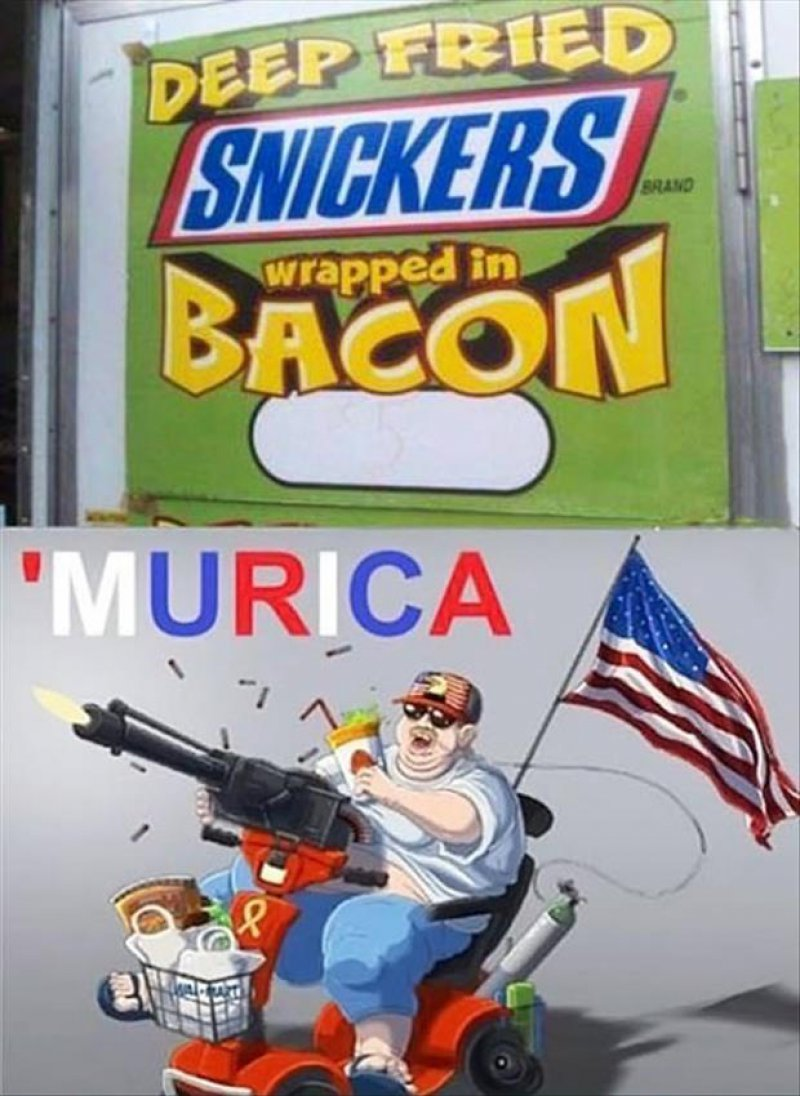 Deep Fried Snickers Wrapped In Bacon!-12 Funny Murica Memes That Will Make You Lol