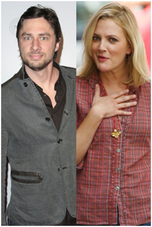 Zach Braff And Drew Barrymore-Shocking Celebrity Couples You Never Thought Will Be Together