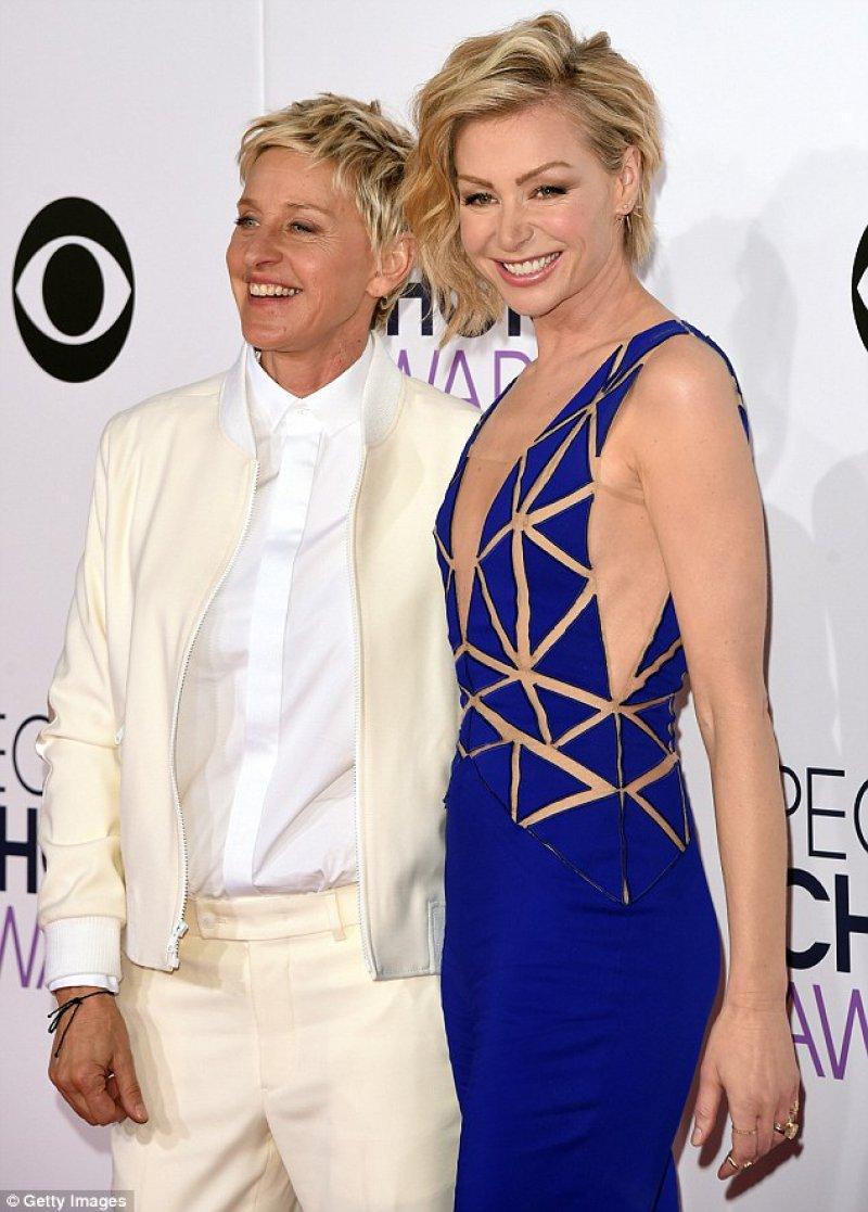 Ellen DeGeneres-12 Gay Celebrities Who Married Same Sex Partners