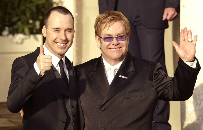 Elton John-12 Gay Celebrities Who Married Same Sex Partners