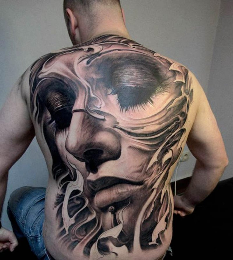 Face 3D Tattoo-15 Fantastic Three Dimensional Tattoos That Will Blow Your Mind