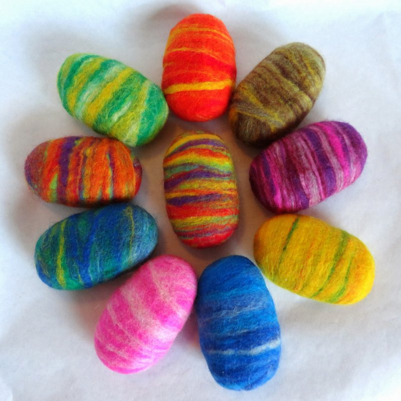 Felted Egg Shaped Soap-12 Hilarious And Creative Soap Bars