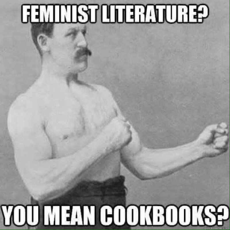 Feminist Literature? You Mean Cookbooks!-12 Savage Memes That Are Insanely Funny
