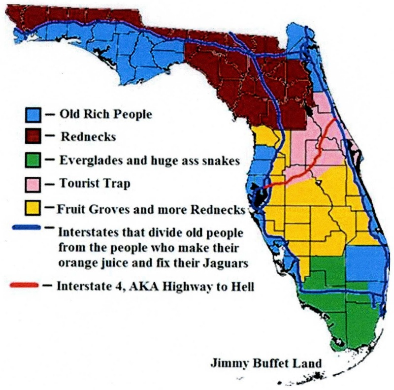 Florida Explained-12 Funny Maps You Won't See In School