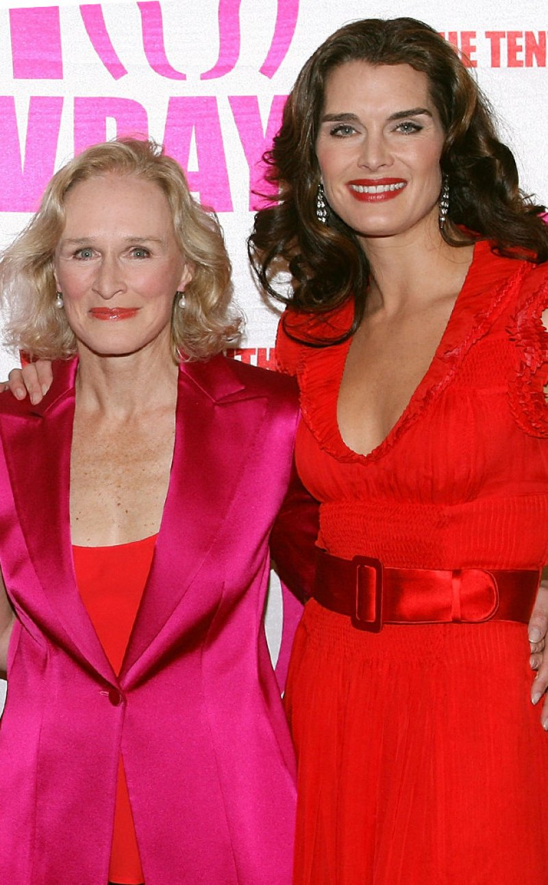 Glenn Close And Brooke Shields-12 Celebrity Cousins You Probably Didn't Know About