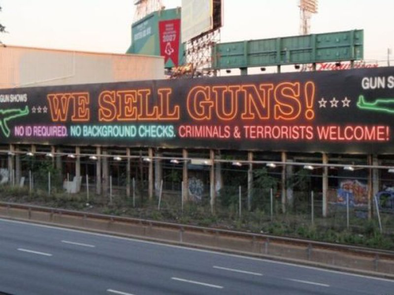Guns For Sale-15 Hilarious Signboards That Will Make You Laugh Out Loud