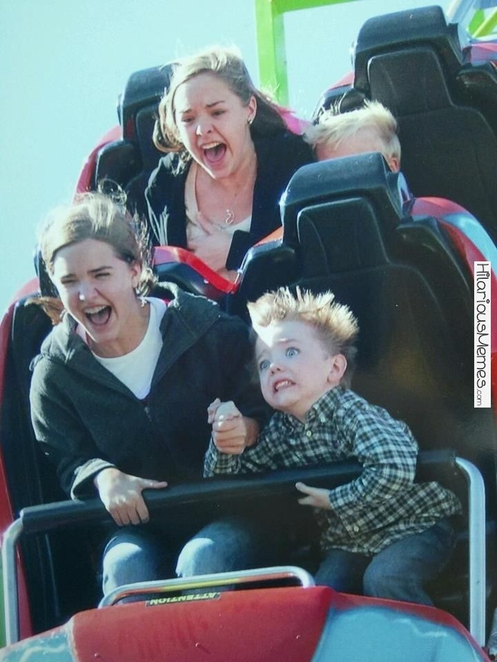 Hair Standing On End-12 Funniest Rollercoaster Pictures