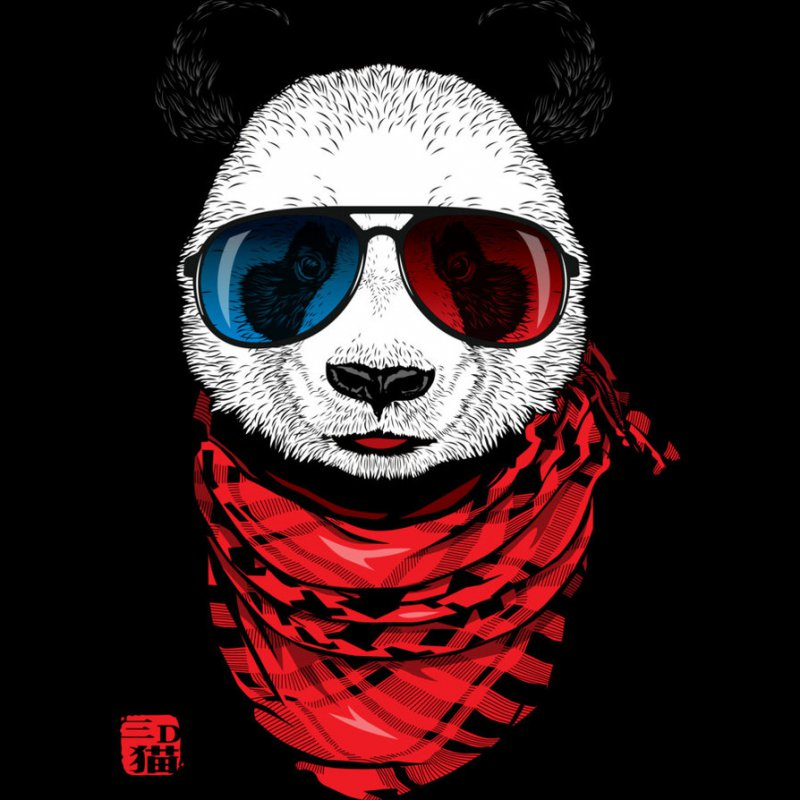 Hipster Panda-12 Amazing Hipster Art Pictures You Must See If You're A Hippy