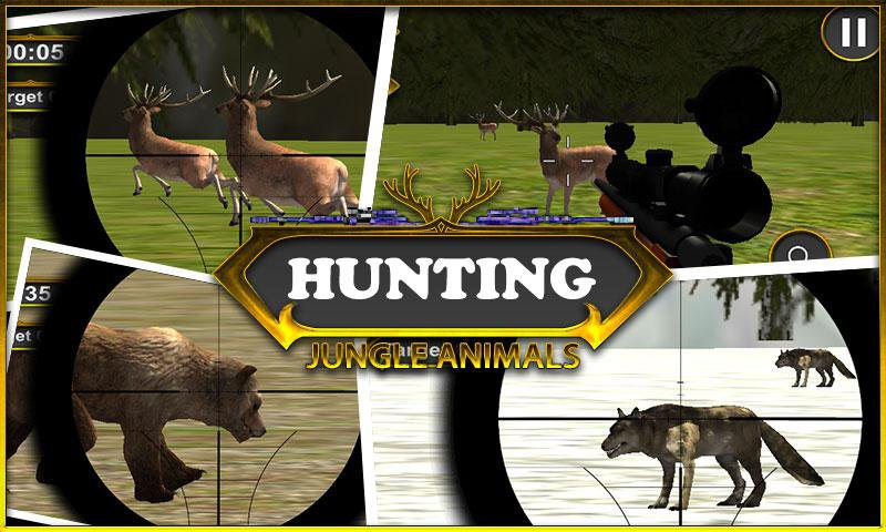 Hunting Jungle Animals-15 Top Hunting Games For Mobile