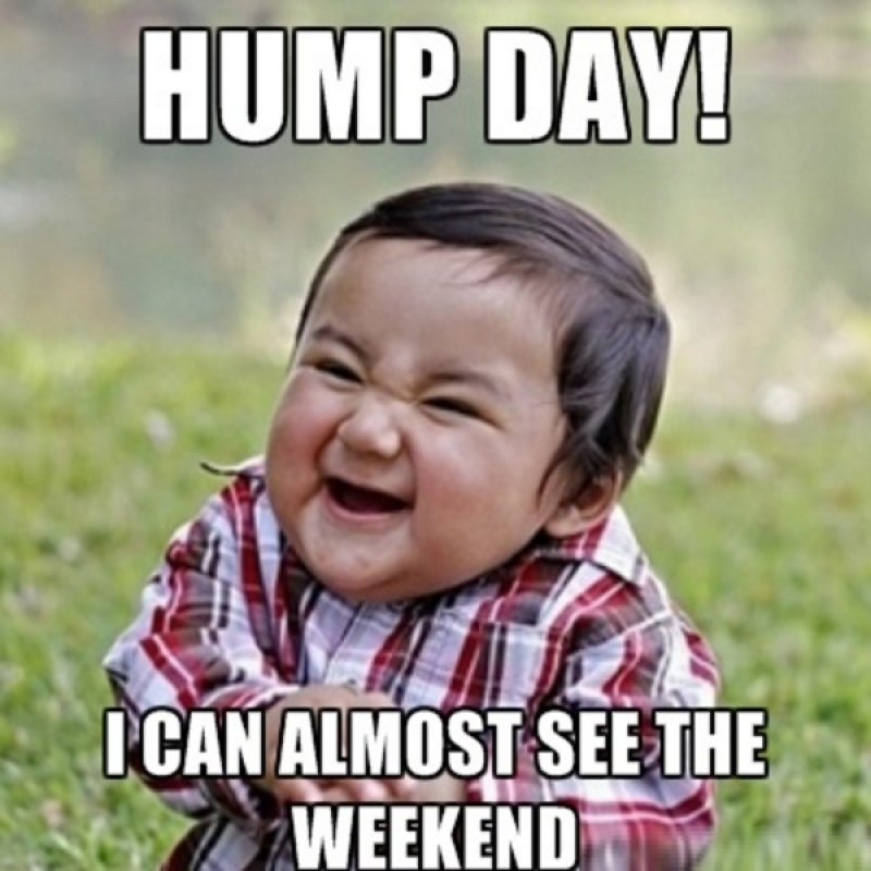 I Can Almost See The Weekend-12 Funny Hump Day Memes That Will Make Your Whole Week