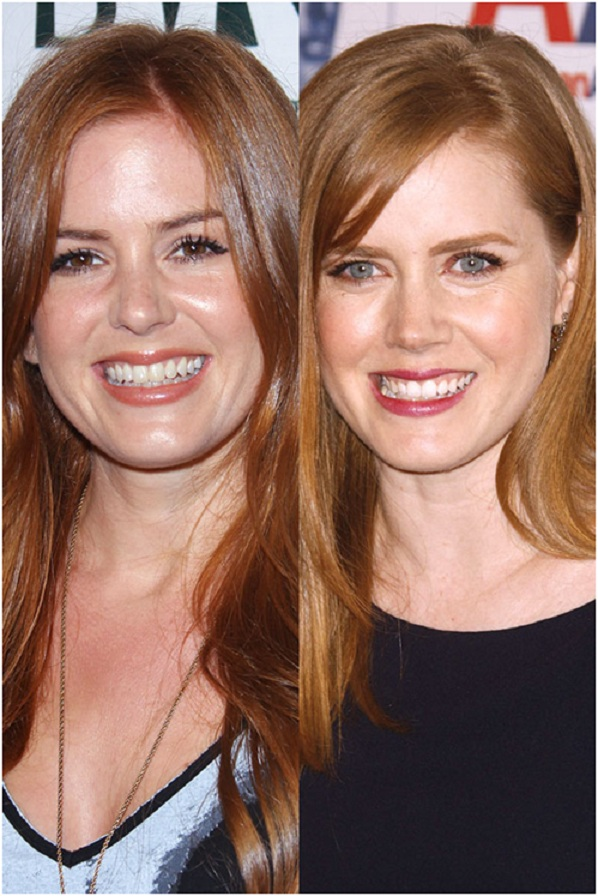 Isla Fisher & Amy Adams-15 Surprising Celebrity Lookalikes That You Haven't Noticed