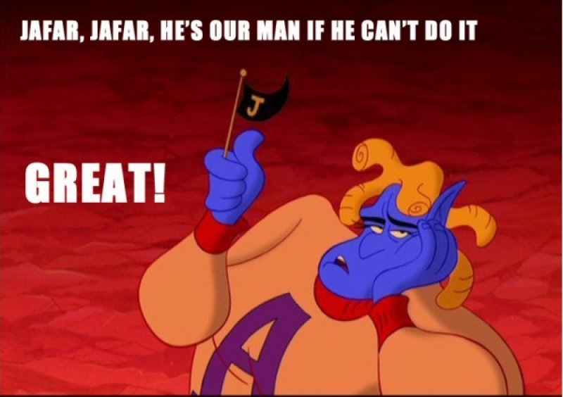 Jafar-12 Funny Quotes Told By Genie From Disney's Aladdin TV Show