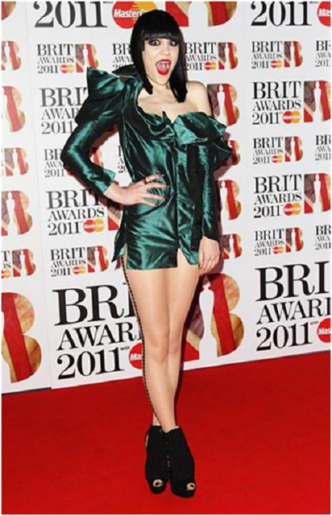 Jessie J and her Metallic Dress-Embarrassing Red Carpet Flops
