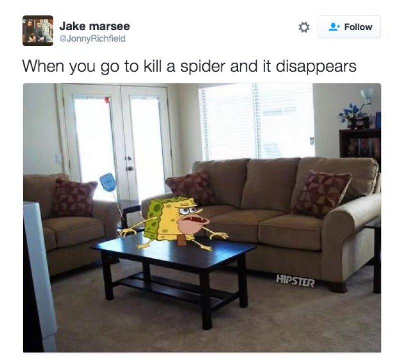 Killing Bugs-12 Funny Caveman SpongeBob/ Spongegar Memes