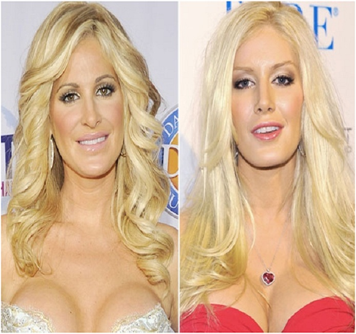 Kim Zolciak & Heidi Spencer-15 Surprising Celebrity Lookalikes That You Haven't Noticed