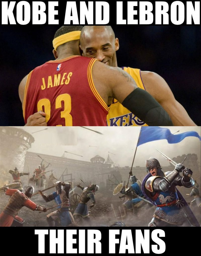 Kobe And Lebron Vs. Their Fans-12 Funny NBA Memes That Will Make Your Day
