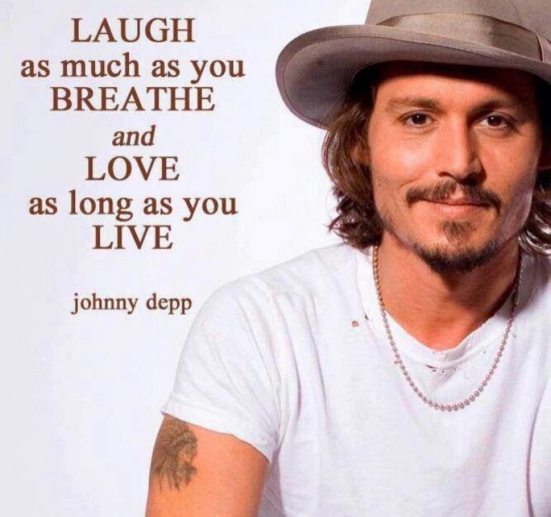 Laugh As Much As You Breathe!-12 Inspirational Johnny Depp Quotes