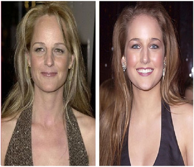 Leele Sobieski & Helen Hunt-15 Surprising Celebrity Lookalikes That You Haven't Noticed