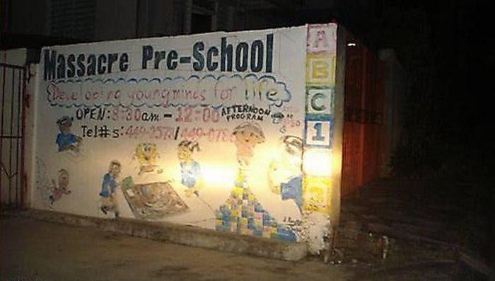 Massacre Pre-School-12 Funniest High School Names