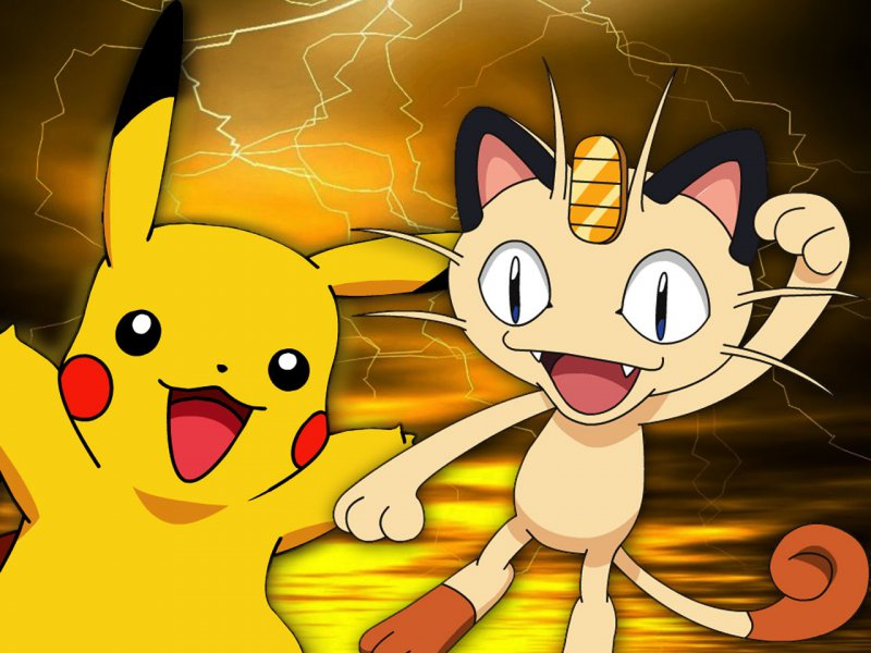 Meowth And Pikachu-15 Mind Blowing Facts About Pokémon