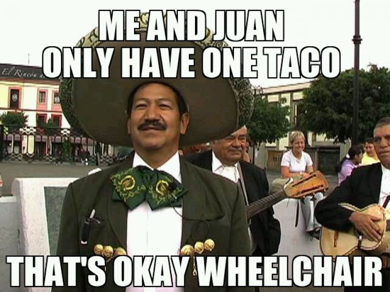 Mexican Word Of The Day: Wheelchair-12 Funny Mexican Word Of The Day Memes