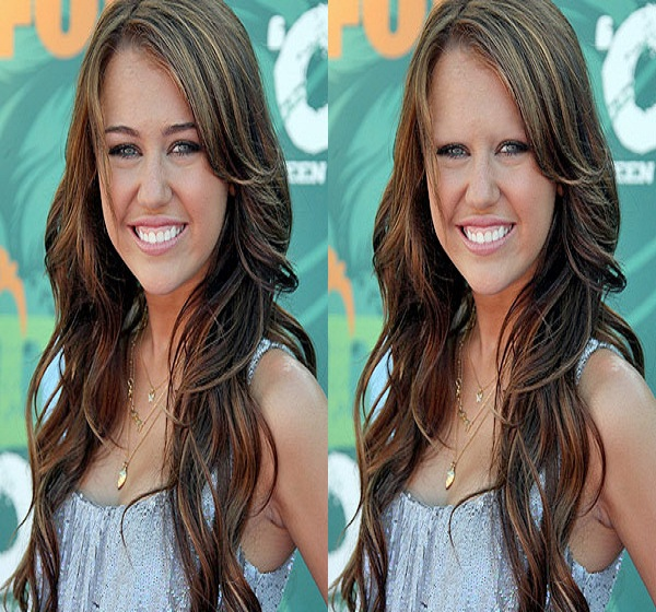 Miley Cyrus-15 Celebrities Without Eyebrows You Never Seen Before