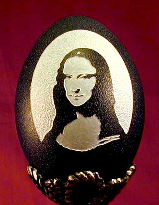 Mona Lisa-15 Eggshell Carvings That Are Beautiful
