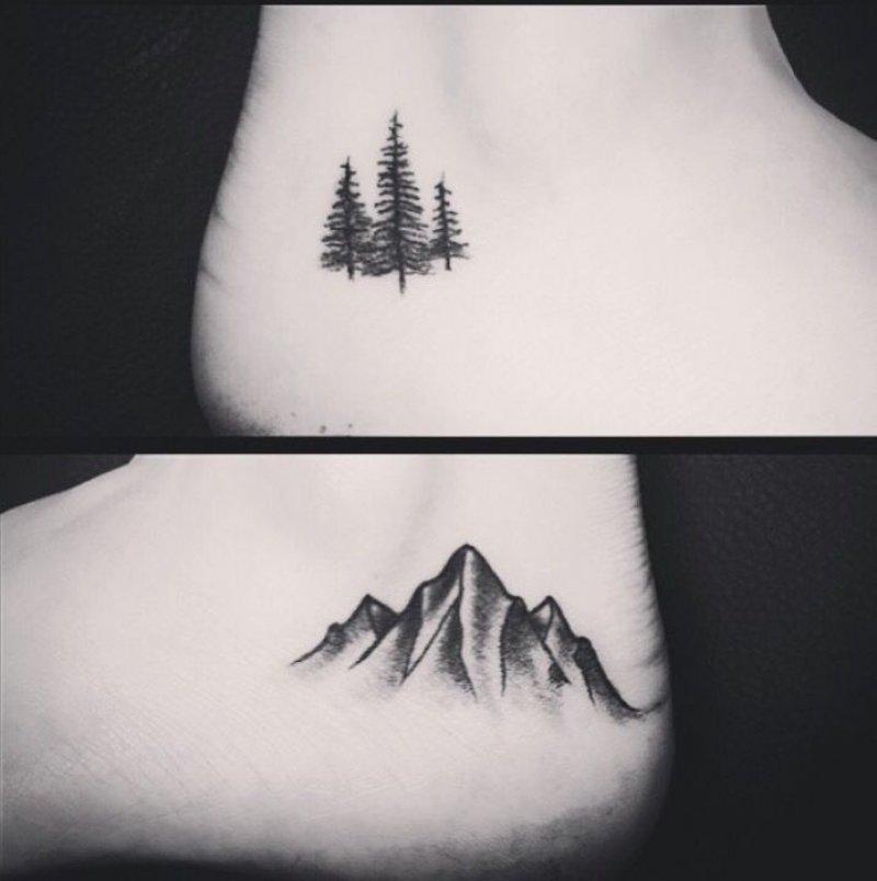 Mountain Ankle Tattoo-12 Impressive And Inspiring Mountain Tattoos