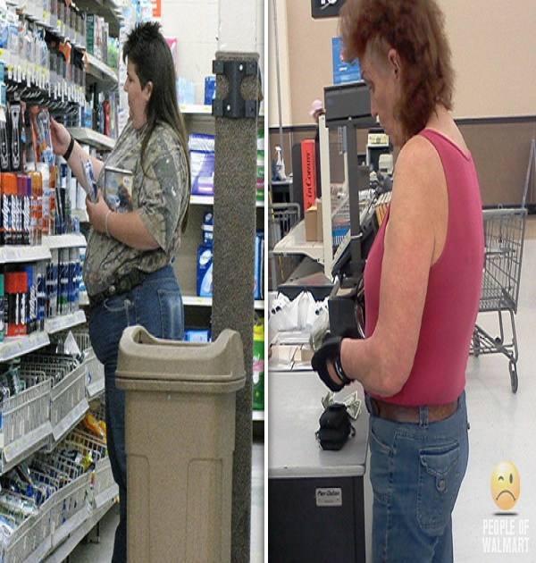 Mullets galore-15 Hilarious Walmart Pictures That Will Make You Say WTF!!
