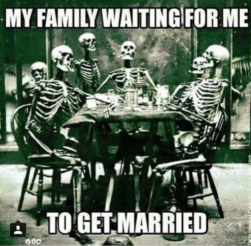 My Family Waiting For Me To Get Married! -12 Funny Waiting Skeleton Memes