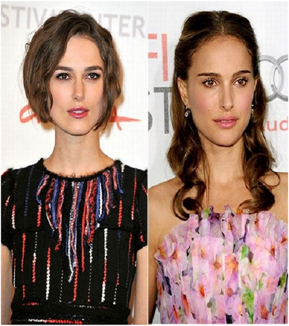 Natalie Portman & Keira Knightley-15 Surprising Celebrity Lookalikes That You Haven't Noticed