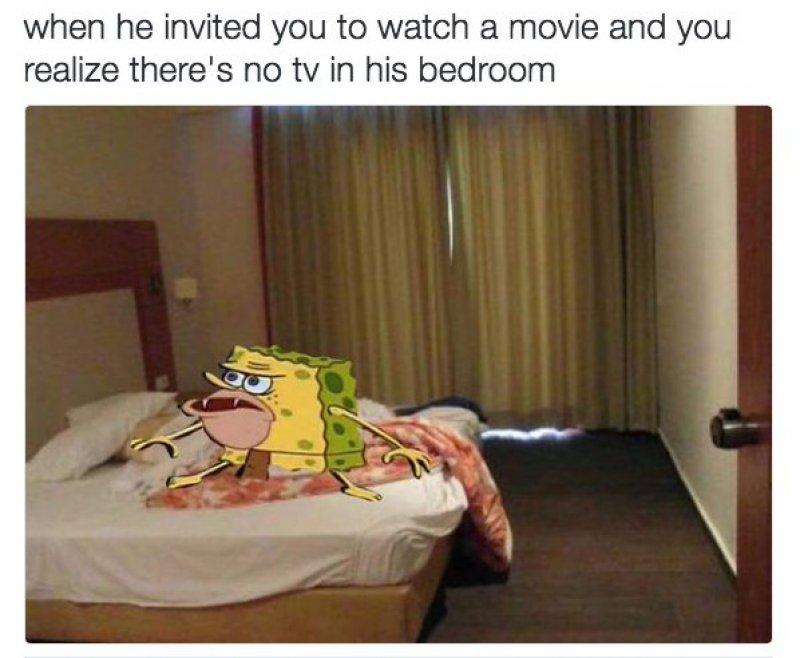Netflix And Chill!-12 Funny Caveman SpongeBob/ Spongegar Memes