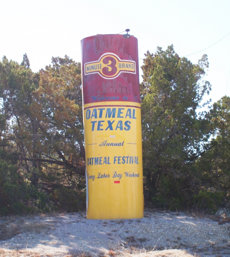 Oatmeal, TX-12 Funniest US Town Names