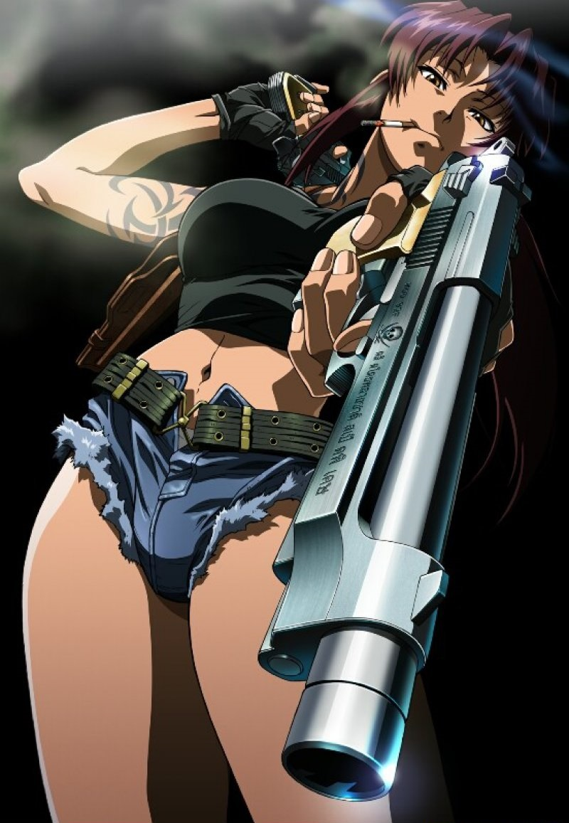 Revy (Black Lagoon) -12 Hottest Anime Girls Of 2017