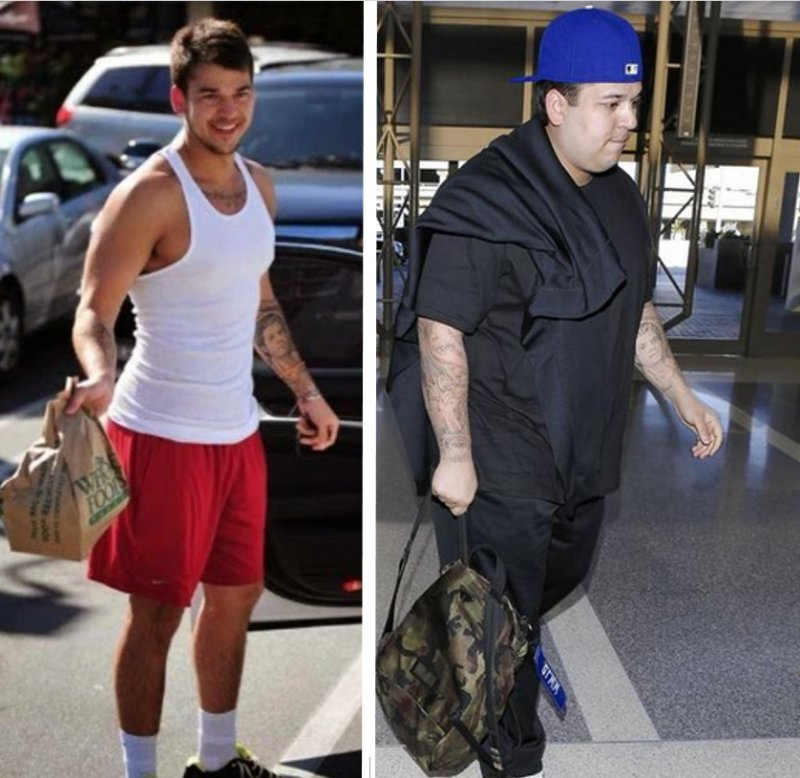 Rob Kardashian-12 Celebrities Who Got Fat