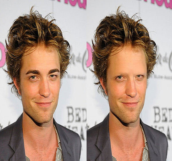 Robert Pattinson-15 Celebrities Without Eyebrows You Never Seen Before