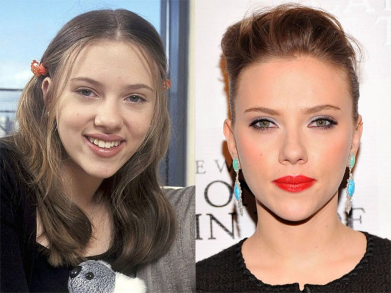 Scarlett Johansson-12 Celebrity Nose Jobs You Didn't Know About