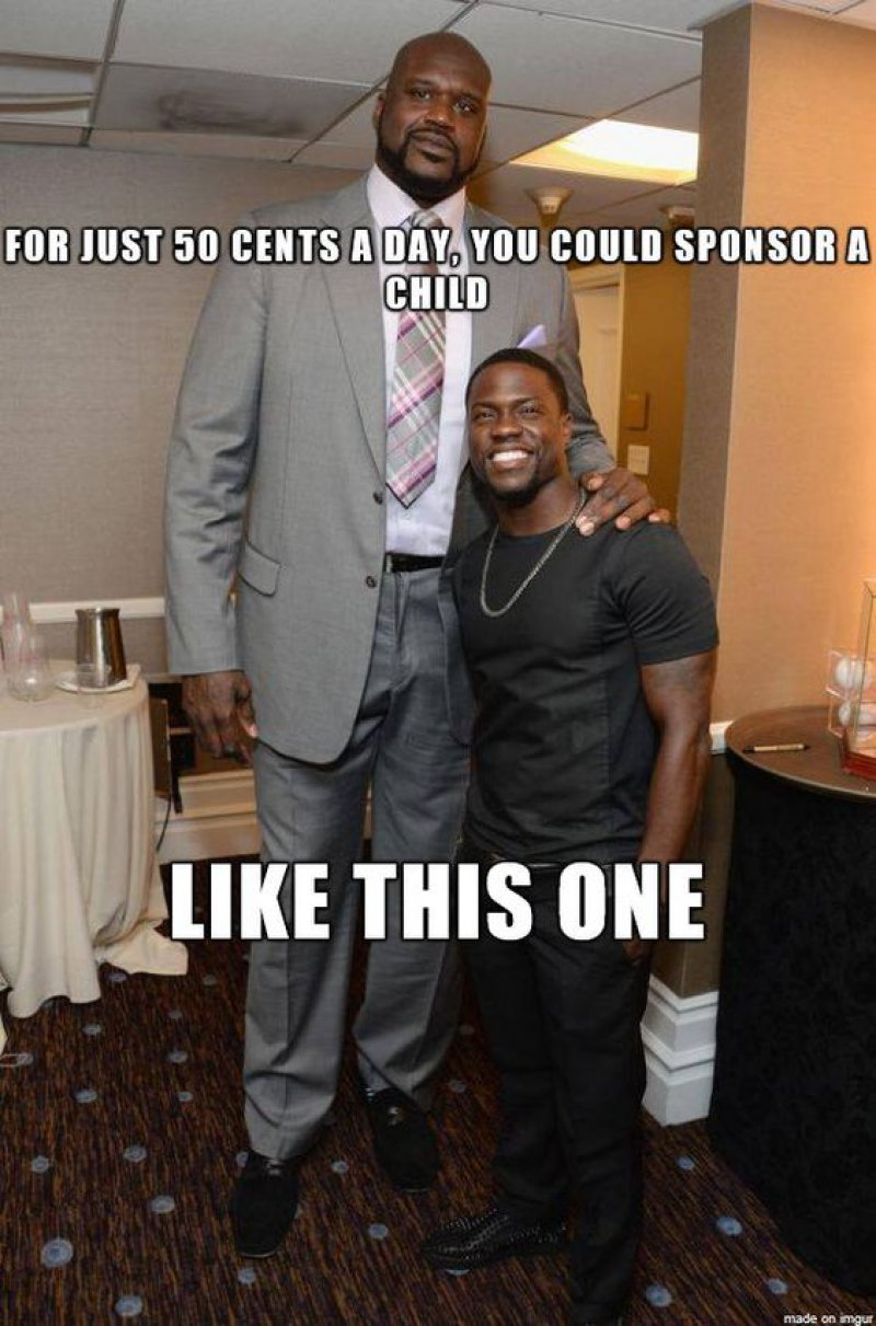 Shaq And Kevin Hart! -12 Funny Kevin Hart Memes That Are Sure To Make You Laugh