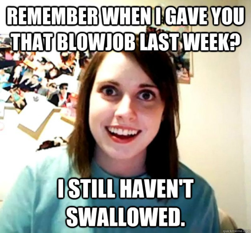 She Still Hasn't Swallowed!-12 Funny Blowjob Memes Will Make You Lol
