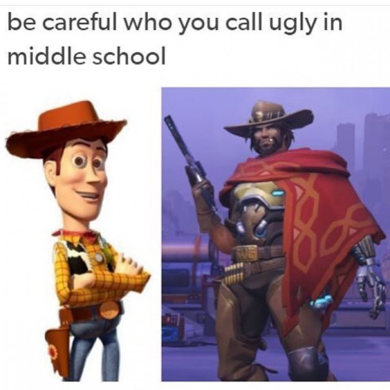 So Sherriff Woody Is McCree?-12 Hilarious Overwatch Memes That Are Sure To Make You Lol